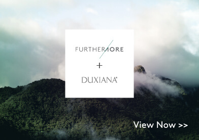 Furthermore and DUXIANA logos over an image of a cloudy mountaintop